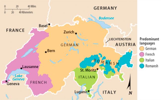 que idioma hablan en suiza