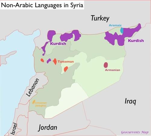 idiomas no arabes en siria