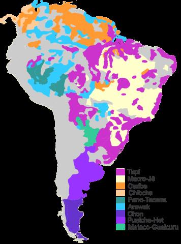 mapa de lenguas indigenas de brasil