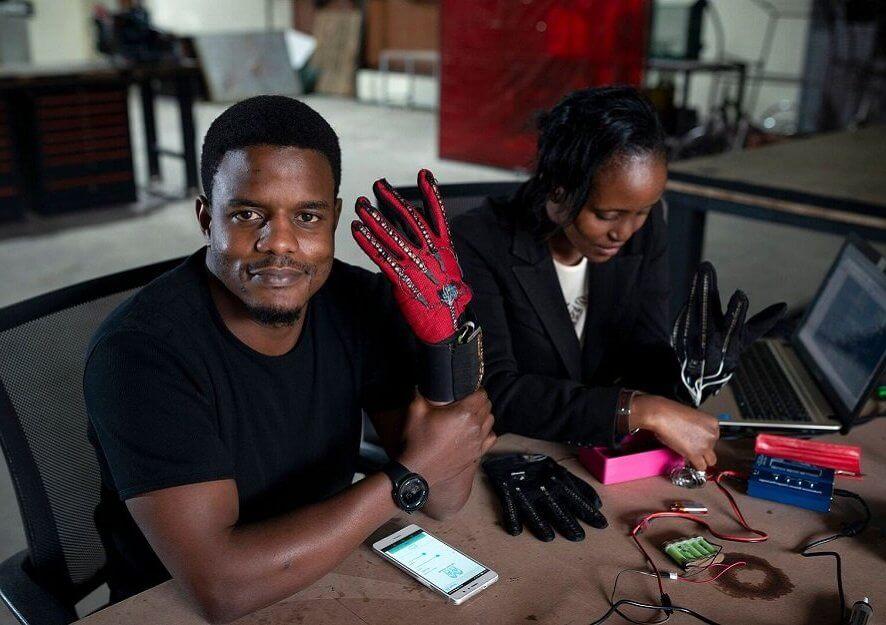 guantes inteligentes traduccion audio lengua señas signos