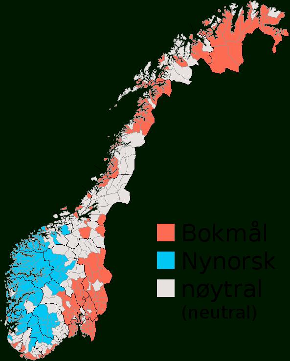 mapa escritura oficial municipios noruega