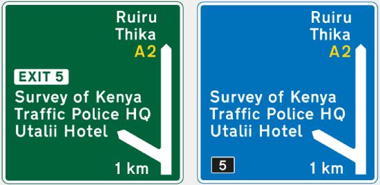 señal trafico kenia idioma ingles