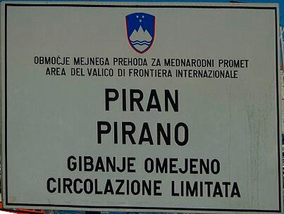 cartel eslovenia esloveno italiano bilingue