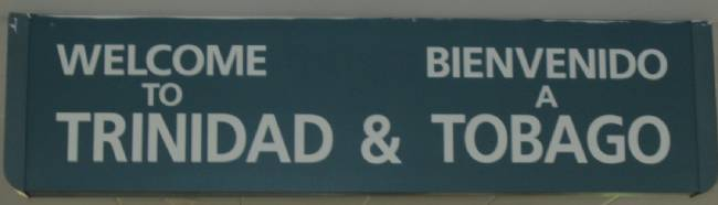 cartel idioma ingles español trinidad y tobago