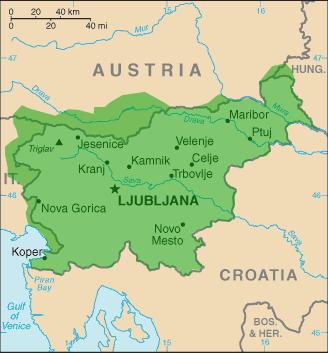 mapa eslovenia esloveno