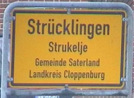 señal de trafico aleman lenguas frisonas alemania