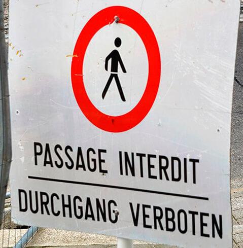 señal trafico idioma aleman frances luxemburgo