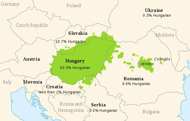 zonas donde se habla el hungaro