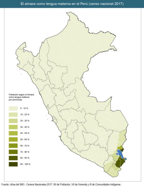 idioma aimara peru provincias