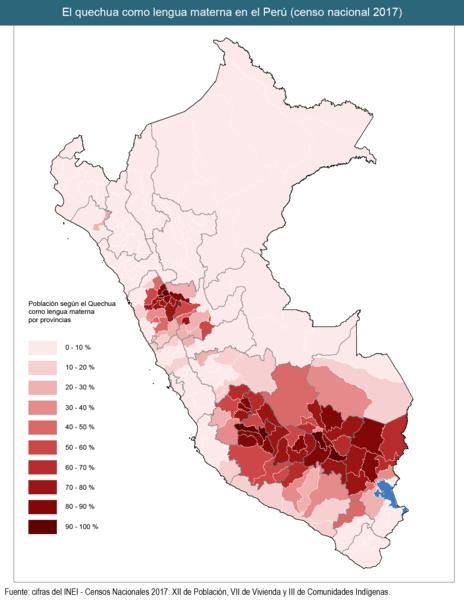 idioma quechua peru provincias