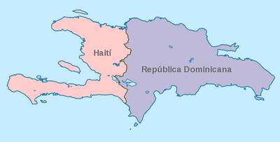 mapa la española republica dominicana haiti