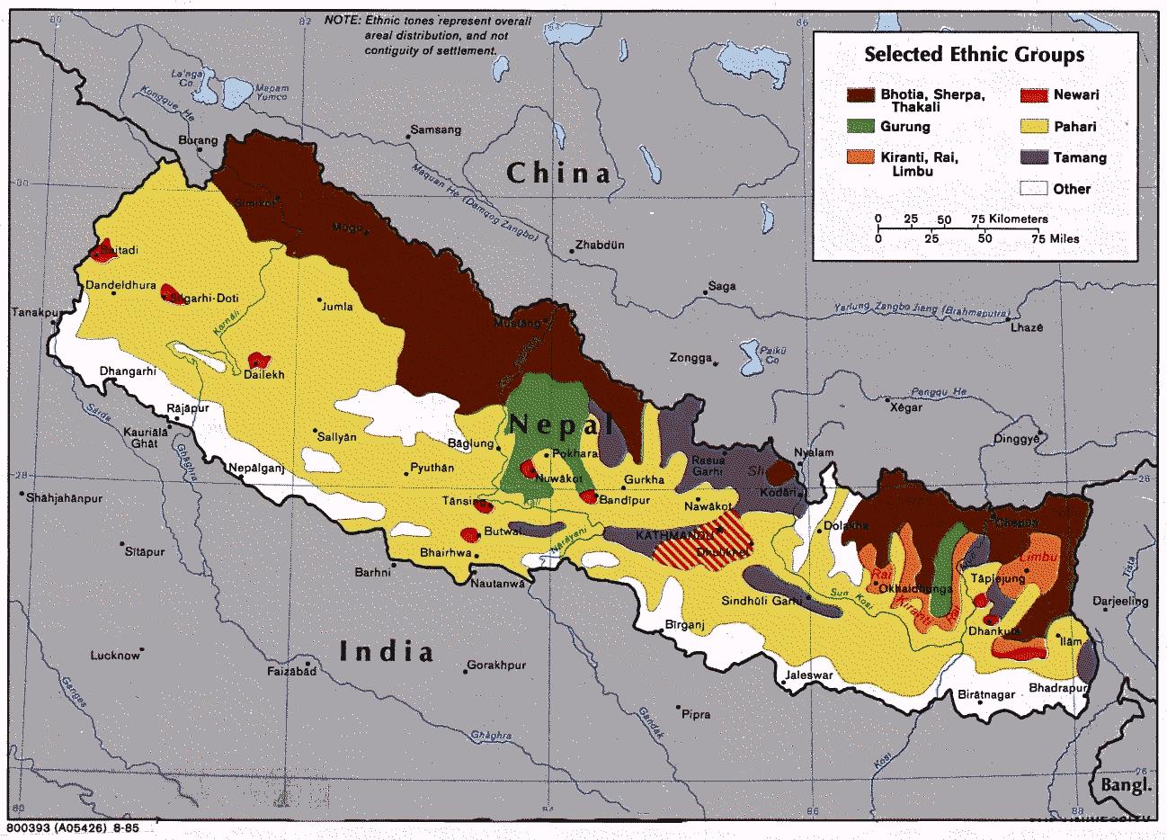 lenguas de nepal grupos etnicos